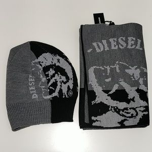 Diesel unisex hat and scarf gift set